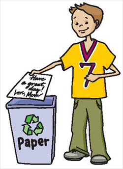 Recycle paper for money